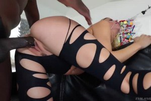 Alexis Fawx totally enjoys her big black treat