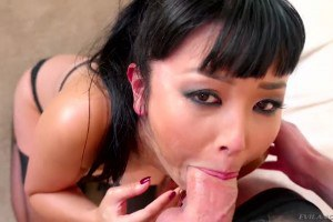 Marica Hase chocking on a big hard pecker