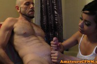 Cfnm girl friend tugs boyfriend after shower