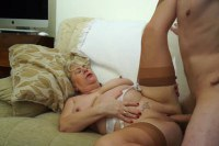 English hot mom plussize doing her boy-toy