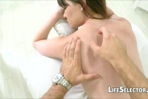 Alison Rey gets oiled up.