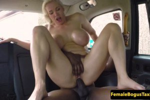Rebecca Moore takes creampie on the backseat after riding BBC