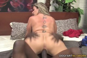 Sara Jay gets her mature pussy stretched by black dick
