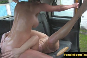 Rebecca More sixtynines blonde passenger on the backseat