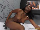 Yara Skye takes a white cock inside her chocolate pussy at the gloryhole