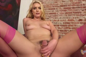 Keira Nicole teases and jerks off a lucky guy