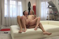 Daniella Margot blonde Russian pornstar takes two facials at anal casting