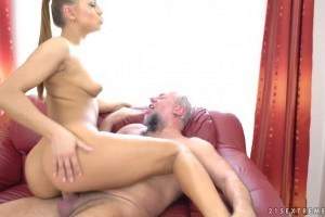 Ornella Morgan gets off when riding old cocks