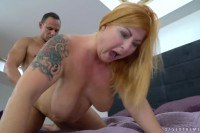 Tammy Jean busty tattooed mature fucked and jizzed