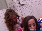Maddy O'Reilly, Jada and Kennedy punish peeping tom in lockerroom