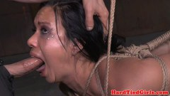Cougarmom domination slave tied up for throating  - duration 07:59