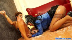 Glam eurobabe models cumcovered at gloryhole - duration 09:59