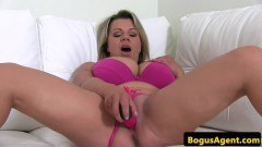 Bigboobs porn casting temptress toying her shavedpussy