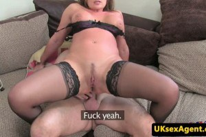 Interview UK MILF sucks agent and rides cock reversecowgirl