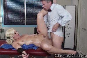 Anikka Albrite sexy pole dancer fucked by the masseur