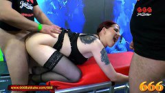 Curvy Emily extreme assfucked peeing ho-bag