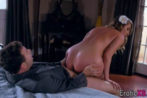 Harley Jade sexy babe picked up and fucked by player
