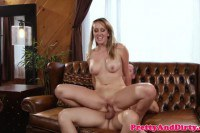 Brett Rossi ultra sexy stepmom drilled on the couch