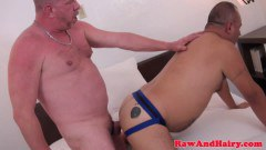 Bear's tight ass drilled and spunked