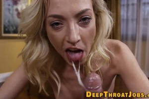 Zoey Parker gets wet and messy sucking a big cock