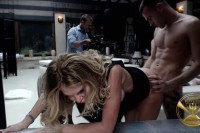 Malena and Linda Leclair sucking dicks and getting fucked during orgy