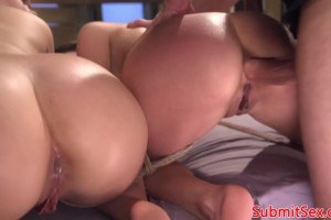 Kimber Woods and Moka Mora two hot subs anally dominated by maledom