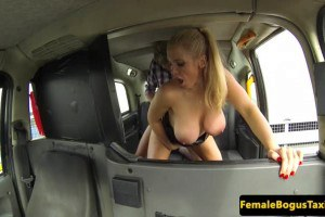 Rebecca More busty MILF cab driver gets fucked by her famous client