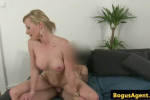Hungarian porn casting babe sucking and riding agent's tool