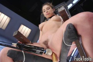 Abella Danger kinky babe getting fucked by machines