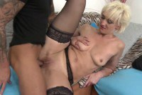 Lustful milf lady gets pounded by a young hunk