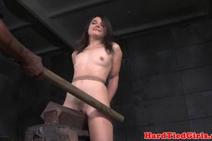 Domination sex slave canned with large stick by maledom