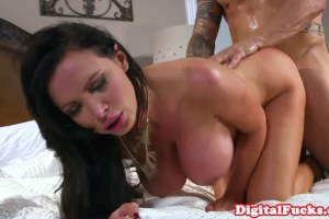 Nikki Benz big breasted cougar fucks friend's personal assistant