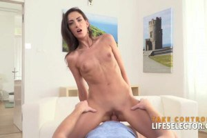 Miki Torrez skinny blue eyed European hottie sucks and fucks a POV dick