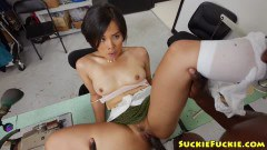 Milcah Halili Asian factory worker fucked in the butt by a black dude