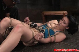 Aria Alexander beautiful BDSM babe gets tied up and toyed
