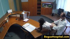 European amateur fucked from behind by physician at the office