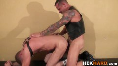 Gay hunk penis sucked before fucking partner's butthole
