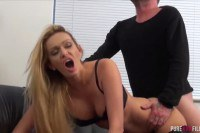 Amber Jayne cheating blonde MILF enjoys a big hard cock