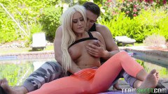 Brandi Bae big boobed fit blonde gets nailed outdoors