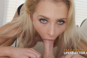 Alix Lynx blue eyed nympho gives the best POV blowjob