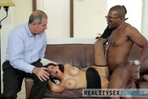 Ryder Skye busty MILF makes hubby watch as she gets fucked by BBC