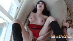 Brenna Sparks gorgeous babe fucked POV style after stepmommy Cherie Deville