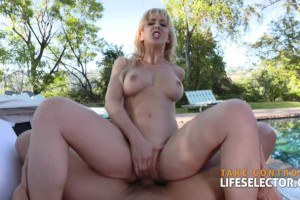 Cherie Deville lustful mommy rides POV cock outdoors