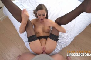 Tina Kay hot babe in stockings makes anal fantasies come to life