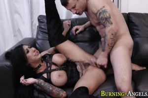 Lily Lane big breasted punk rock goddess squirts during roughsex