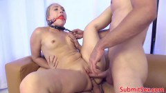 A. J. Applegate double penetrated in submissive 3some