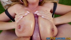 Kianna Dior gets her massive titties fucked outdoors for facial