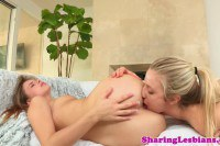 Lesbian bum gets rimmed before intense tribbing