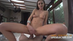 Tina Kay and other hot babes suck and rides a big POV dick