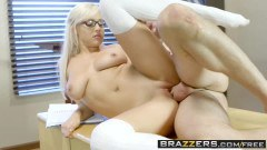 Kylie Page busty blonde schoolgirl with glasses fucked by the professor